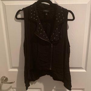 Torrid Black Studded Vest